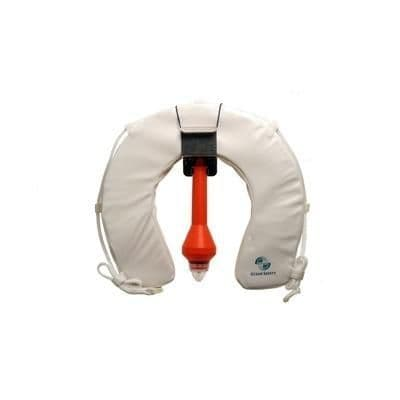 Traditional Soft Horseshoe Buoy with Standard Light in White
